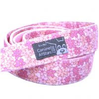DOG LEAD - TINY FLOWERS IN PINK AND PEACH